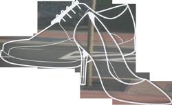 Dames en heren schoen logo